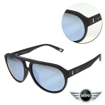 【MINI】偏光飛行款水銀藍色霧黑框太陽眼鏡(A M38011-107P)