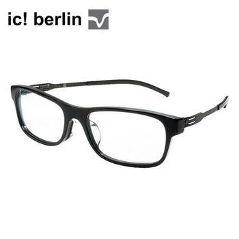 【ic!berlin光學眼鏡】正品德國柏林薄鋼設計-黑(MANUEL N.-OBSI-BLACK)