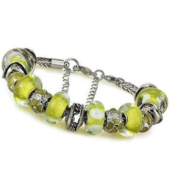 【米蘭精品】潘朵拉元素手鍊925純銀琉璃飾品亮麗黃色系列時尚73ay140