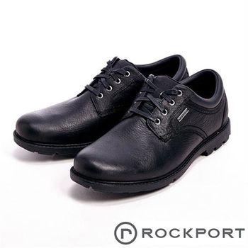 【Rockport】RUGGED BUCKS全防水系列休閒男仕皮鞋-黑