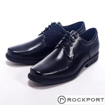 【Rockport】STYLE TIP都會雅仕系列四孔繫帶男皮鞋-黑