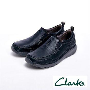 【Clarks】Clarks Un Grenell6 氣墊抗震皮鞋 戶外休閒男鞋-黑
