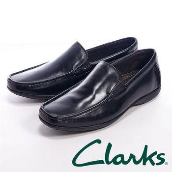 【Clarks】FINER SUN 休閒直套樂福鞋男鞋-黑