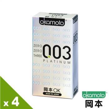 【岡本OK】003 Platinum白金保險套(6入X 4盒)