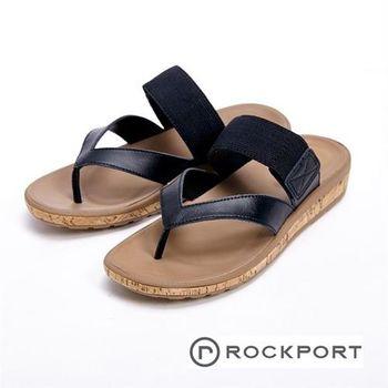 【Rockport】黑色簡約涼拖鞋 女鞋-黑(另有棕)
