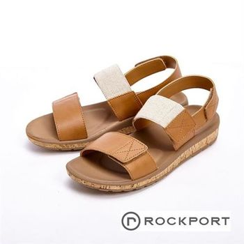 【Rockport】都會雅仕系列 涼夏休閒款涼拖鞋 女鞋- 棕(另有銀)