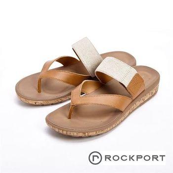 【Rockport】棕色簡約涼拖鞋 女鞋-棕(另有黑)