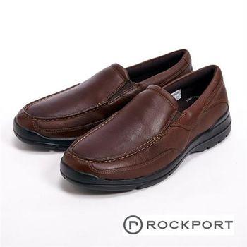 【Rockport】直套柔軟休閒男鞋-咖