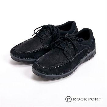 【Rockport】超輕量輕盈系列 / ZONECUSH ROCSPORTLT 耐走綁帶休閒男鞋-黑