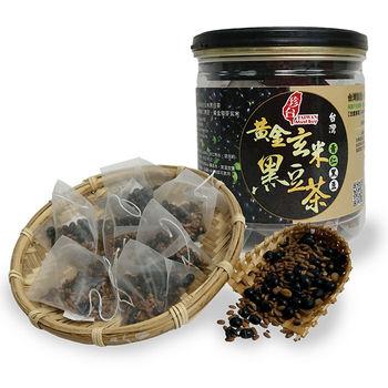 珍台黃金玄米黑豆茶養生(4瓶組)