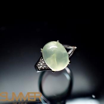 【SUMMER寶石】天然財運寶石葡萄石柔美戒指(925銀) (AE-7)