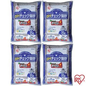 【IRIS】 日本 健康貓砂-尿道結石專用(KCM-80) 8L x 4包