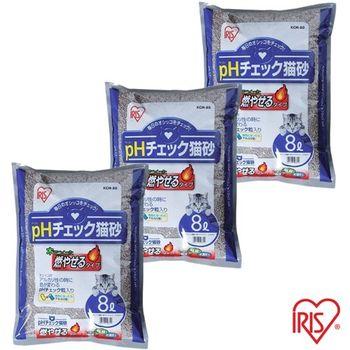 【IRIS】 日本 健康貓砂-尿道結石專用(KCM-80) 8L x 3包