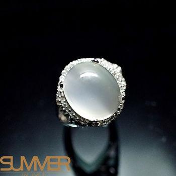 【SUMMER寶石】天然嚴選月光石戒指(925銀) (AC-3)