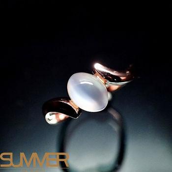 【SUMMER寶石】天然嚴選月光石戒指(925銀玫瑰金色) (AC-4)