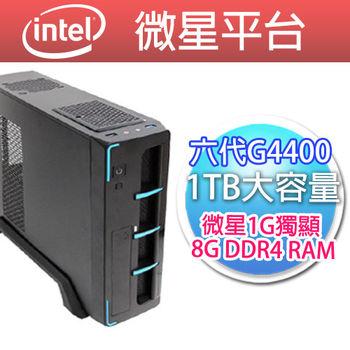 |微星平台|電光戰士 G4400 MSI H110M PRO VD 8G 1TB 300W 獨顯微星N730K-1GD5 桌上型電腦
