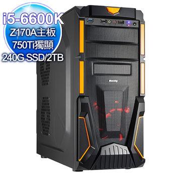  微星平台 土魔刀 六代i5-6600K四核 750Ti 2G顯卡 雙碟電競 桌上型電腦