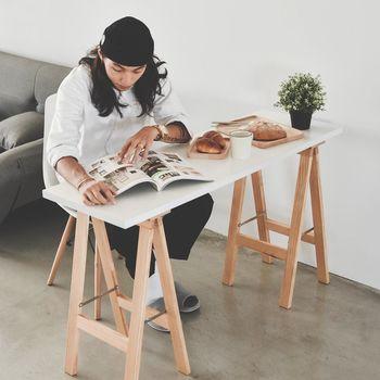 《舒適屋》無印風多功能A字雙腳工作桌/餐桌