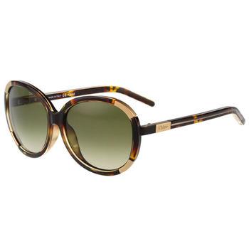 CHLOE太陽眼鏡 圓框 經典款(琥珀色)