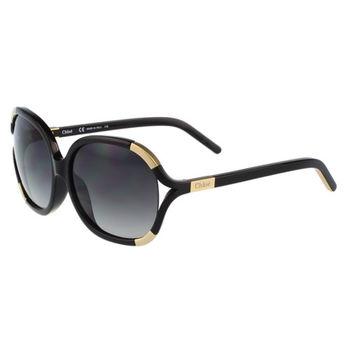 CHLOE太陽眼鏡 簍空圓框 經典款(黑色)