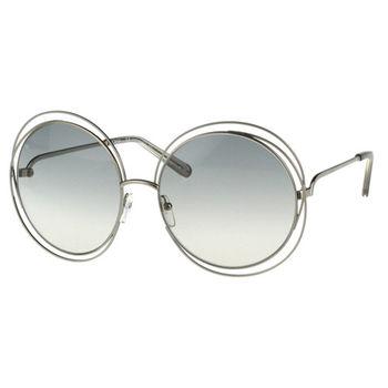 CHLOE太陽眼鏡 金屬大圓框(銀色框)CE114S-734