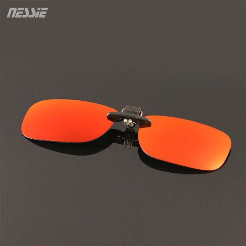 Nessie尼斯 休閒偏光太陽眼鏡夾片-紅黑 贈眼鏡收納袋 抗UV紫外線 出遊 戲水 野餐 護眼必備