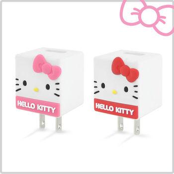 Hello Kitty 立體QQ 1A 輕巧USB充電器 KT-CR04