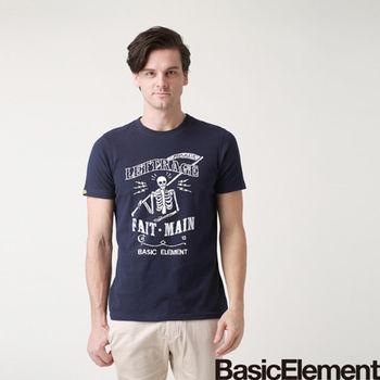 【BasicElement】男款骷髏使者T-藏青