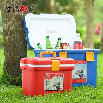 【生活采家】攜帶式戶外保冷保溫兩用冰桶2件組(#32001)