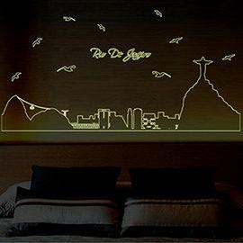 窩自在★DIY無痕創意牆貼壁貼-里約夜景_ABQ9615(60X90)