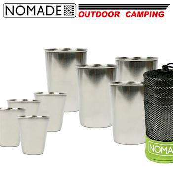 【NOMADE】諾曼得戶外露營不鏽鋼杯8件組