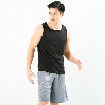 任-Hi-Cool 吸濕排汗 素色豹紋潮流運動短褲 籃球褲 灰色