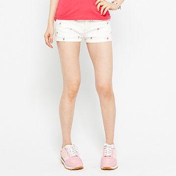 TOP GIRL 滿版跳動閃電牛仔短褲 -白