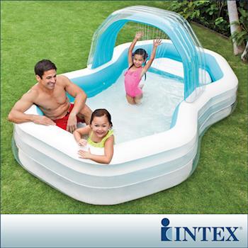【INTEX】家庭戲水噴水小屋游泳池(310x188CM)(700L) (57198)