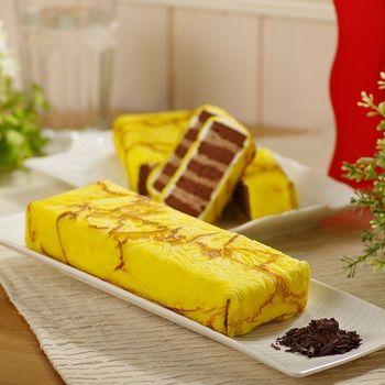 【艾葛蛋捲狂人】金磚蛋糕二片裝(巧克力脆片x1片+ 水果優格x1片)