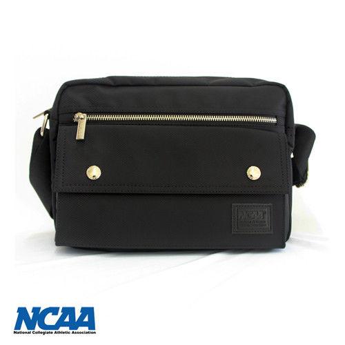 NCAA 防潑水側背包(中)-黑色