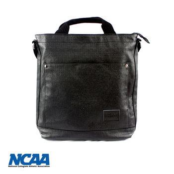 NCAA 帆布過膠手提側背兩用包-黑色