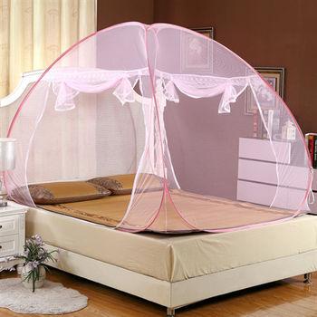 Lapin 大空間雙開蒙古包蚊帳-粉紅 (特大200x220cm)