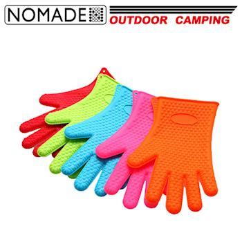 【NOMADE】諾曼得戶外露營多功能矽膠隔熱手套(5色-單支)