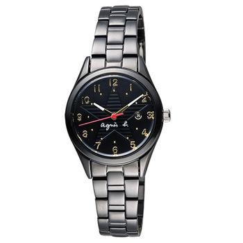 【agnes b.】限定低調閃耀星空女腕錶-29mm/黑 (VJ22-KR60SD/BH7015X1)
