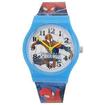 【漫威】MARVEL 蜘蛛人塑膠錶帶兒童錶卡通錶(藍)