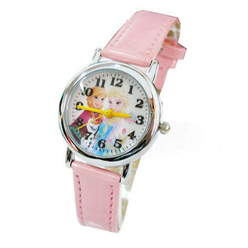【迪士尼】FROZEN冰雪奇緣兒童錶卡通錶-姐妹情深