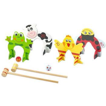 Classic world 德國經典木玩 客來喜 木製槌球遊戲 幼兒益智玩具