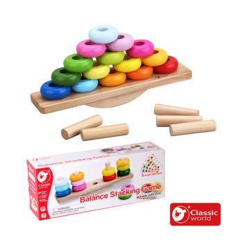classic world 德國經典木玩 客來喜 色彩平衡遊戲
