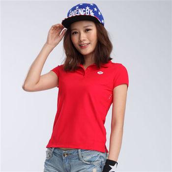 【TOP GIRL】吸濕排汗POLO衫 -紅
