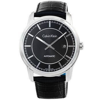 CK Infinity Automatic 凱文克萊藍寶石紳士機械錶-黑 / K5S341C1 金宇彬廣告款