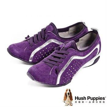 Hush Puppies 運動風彈力休閒鞋-紫