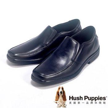 Hush Puppies 簡約素面直套皮鞋男鞋-黑
