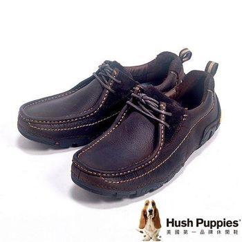 Hush Puppies The Body Shoe機能塑型系列綁帶休閒鞋男鞋-深咖