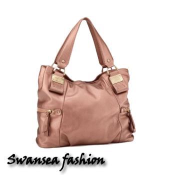 swansea奢華頂級羊皮包-玫瑰金